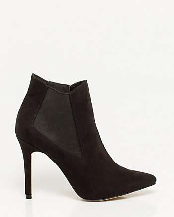Leather-Like Pointy Toe Shootie