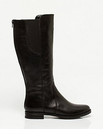 Italian Designed Leather Knee-High Boot
