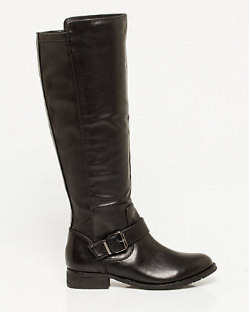 Leather-Like Biker Boot
