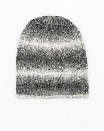 Stripe Knit Ombré Beanie