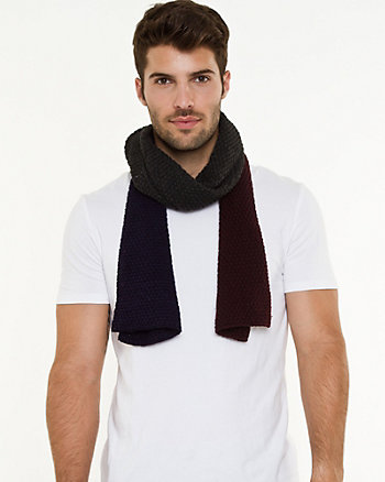 Knit Colour Block Scarf