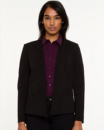 Snake Embossed Knit Blazer