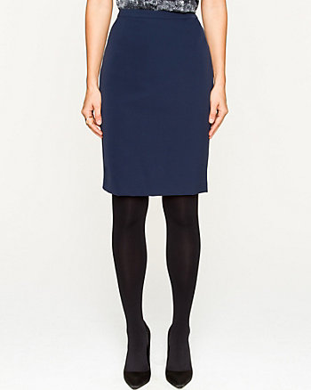 Nylon Twill Pencil Skirt