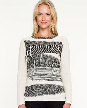 Space Dye Crew Neck Sweater