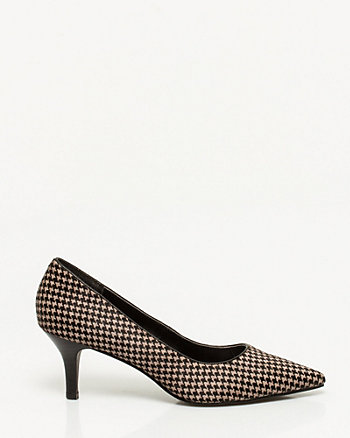 Houndstooth Pointy Toe Pump