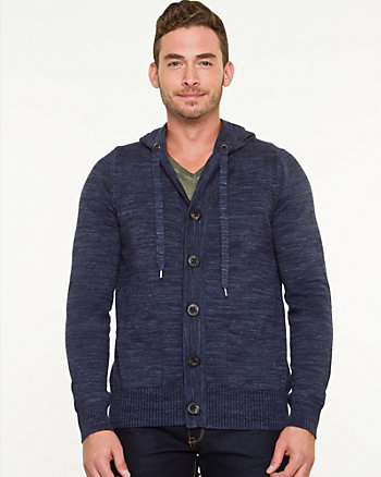 Space Dye Hooded Cardigan