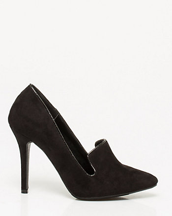 Microfibre Pointy Toe Pump