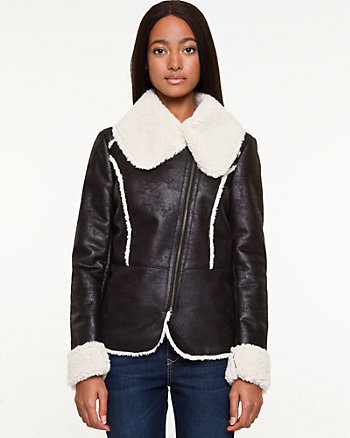 Bonded Faux-Sherpa Lined Jacket