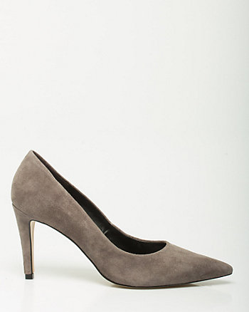 Brazilian-Made Suede Pointy Toe Pump