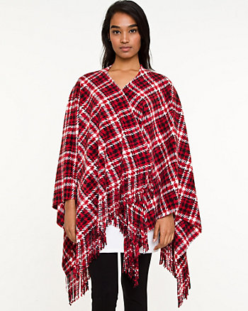 Fleece Houndstooth Shawl
