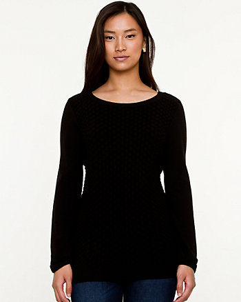 Viscose Blend Snake Embossed Sweater