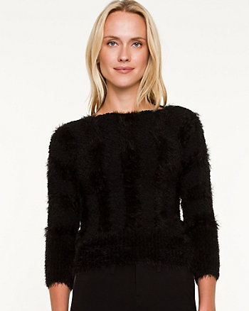 Boat Neck Crop Sweater