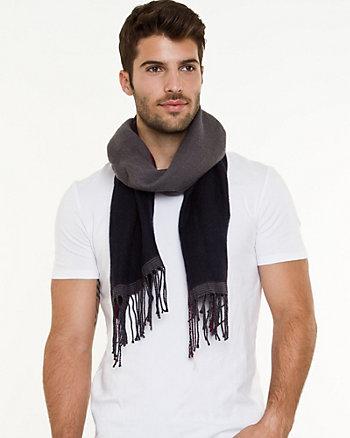 Wool Blend Fringe Scarf