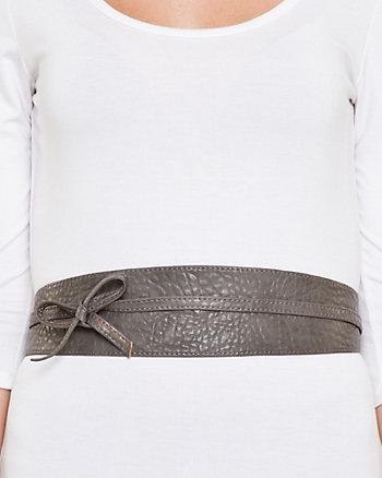 Leather-Like Wrap-Around Belt