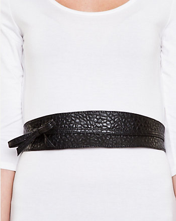 Leather-Like Wrap-Around Belt