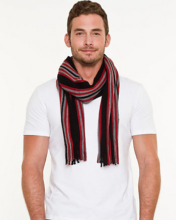 Stripe Knit Scarf