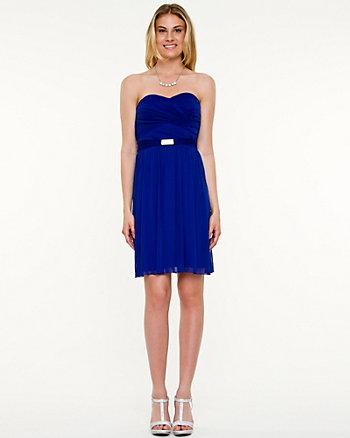 Rhinestone Embellished Fit & Flare Dress