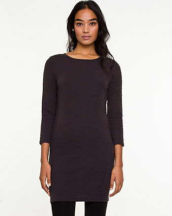 Textured Knit Crew-Neck Tunic