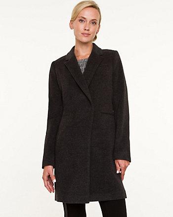 Cashmere Blend Reefer Coat