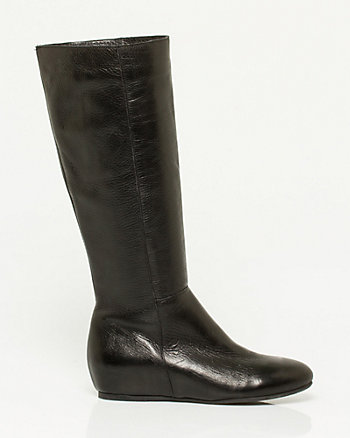 Italian-Made Leather Mid Calf Boot
