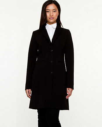 Double Knit Reefer Coat