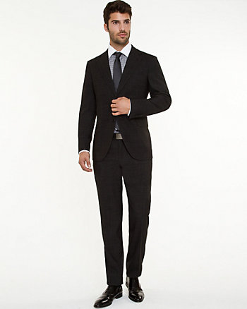 Italian Wool Blend Two-Piece Slim Fit Suit