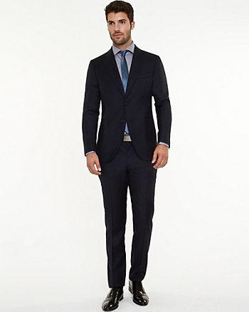 Italian Wool Two-Piece Slim Fit Suit