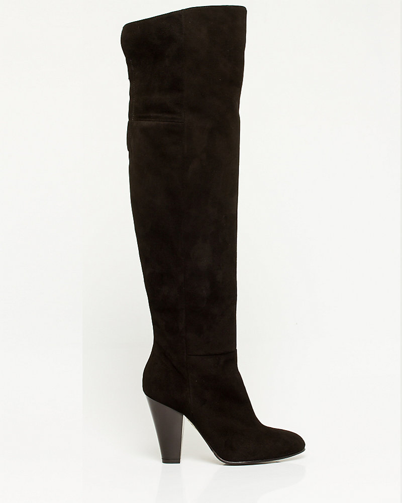 173193368fb Italian-Made Suede Over-the-Knee Boot