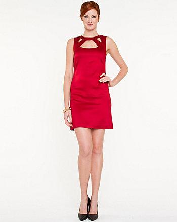 Shantung Cutout Mini Dress