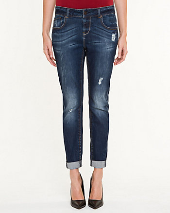 Distressed Stretch Boyfriend Jean