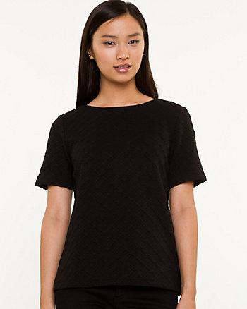 Knit Crew Neck T-shirt