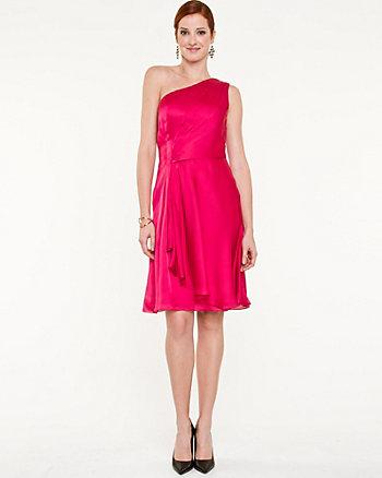 Satin Fit & Flare Dress