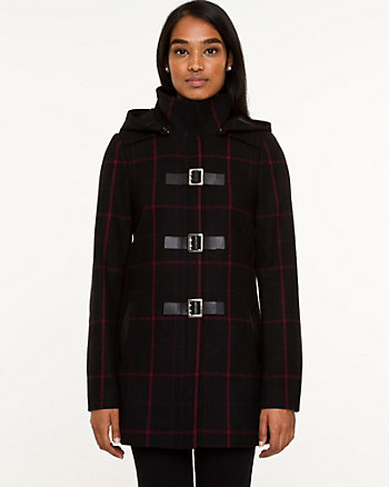 Melton Wool Blend Coat