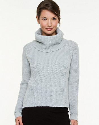 Textured Cowl Neck Sweater