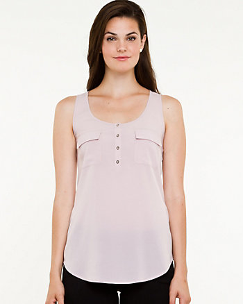 Woven Wide Strap Tank Top