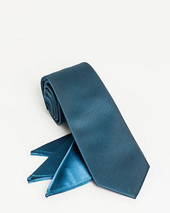 Check Print Tie & Pocket Square Set