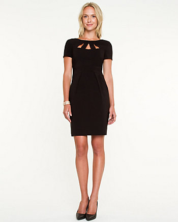 Bengaline Cutout Fitted Dress