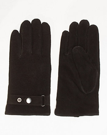 Suede & Knit Glove