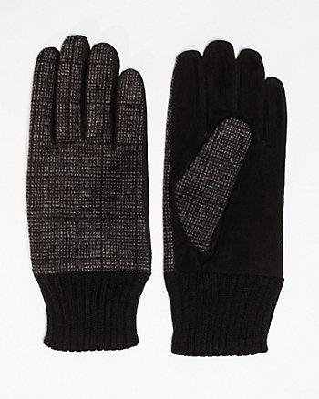 Suede & Wool Blend Glove