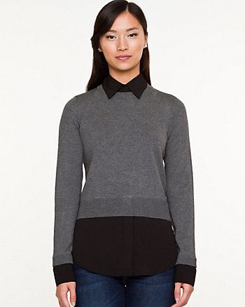 Viscose Blend 2-in-1 Sweater