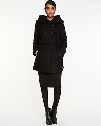 Melton Wool Hooded Coat