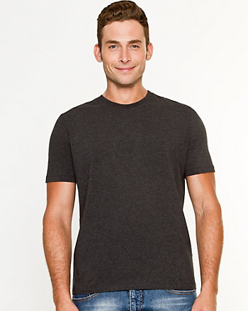 Cotton Blend Crew Neck T-Shirt