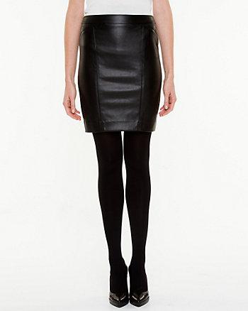 Leather-Like High Waisted Skirt