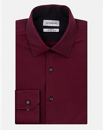 Cotton Pattern Tailored Fit Shirt