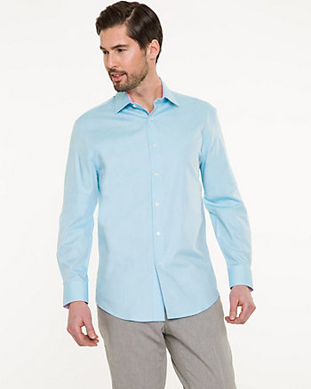 Two-Tone Cotton Twill Tailored Fit Shirt