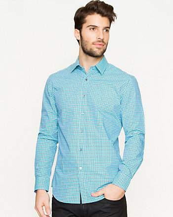 Check Cotton Tailored Fit Shirt