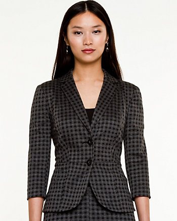 Knit Notch Collar Blazer
