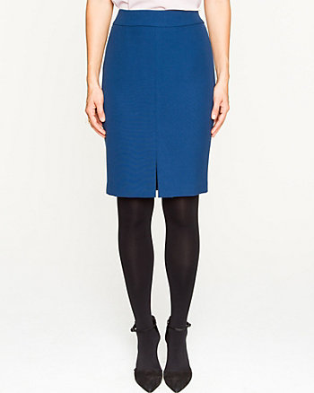 Stretch Double Weave Pencil Skirt