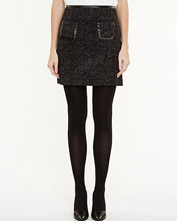 Tweed A-line Mini Skirt