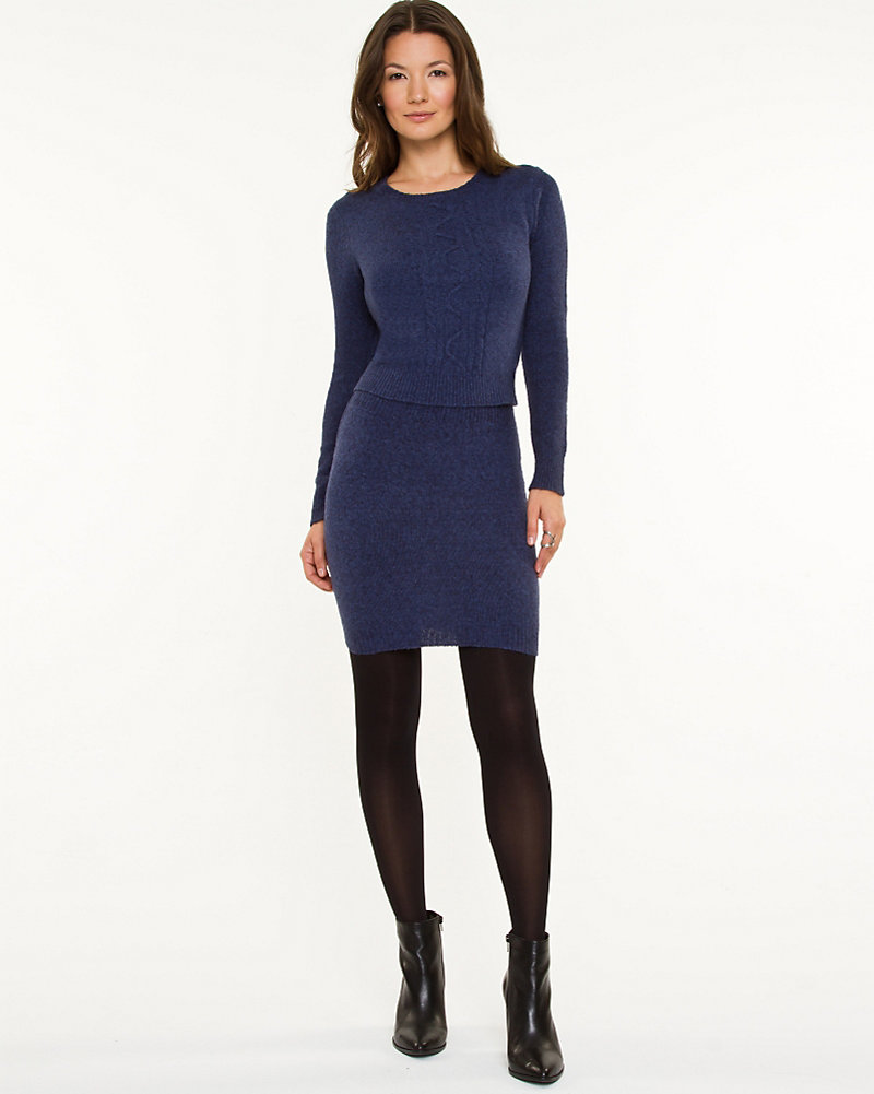 933d16f87dfe Cable Knit Sweater Dress